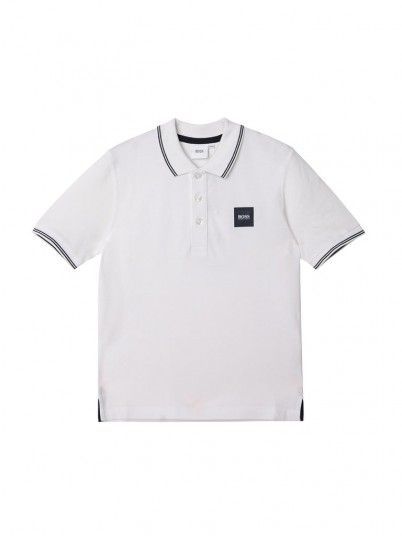 Polo Niño Blanco Hugo Boss