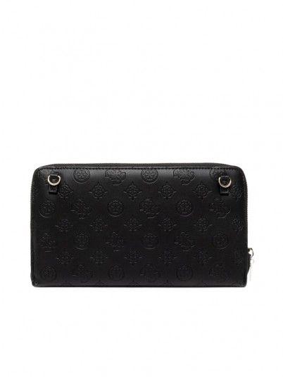 Wallet Woman Logo Black Guess Acessórios