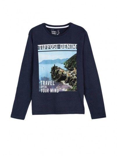 Sweatshirt Boy Henry Navy Blue Tiffosi Kids
