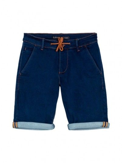 Pantalones Cortos Niño Jeans Oscuros Tiffosi Kids