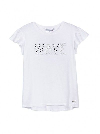 T-Shirt Girl Cannella White Tiffosi Kids