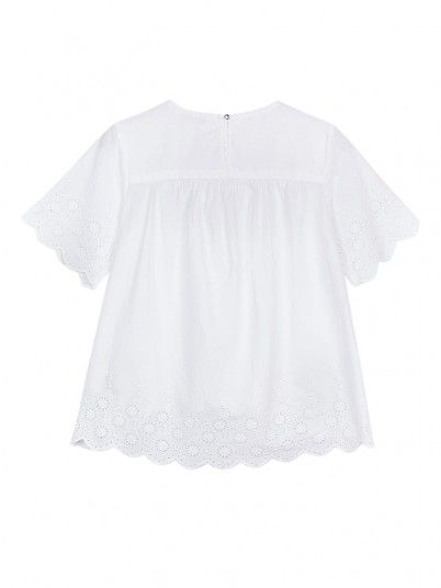 Blouse Fille Blanc Tiffosi Kids