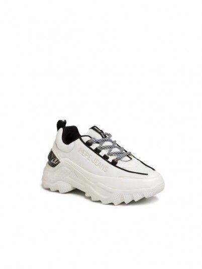 Sneakers Woman Eccles White Pepe Jeans Footwear