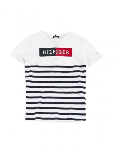 Camiseta Niño Mixed Blanco Tommy Jeans Kids