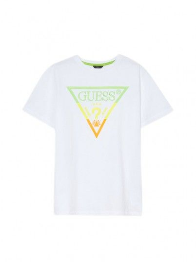 T-Shirt Boy Ss White Guess Kids