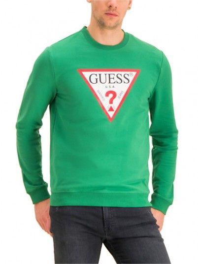 Sweatshirt Hombre Verde Guess