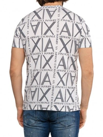 T-Shirt Uomo Armani Bianco Armani Exchange