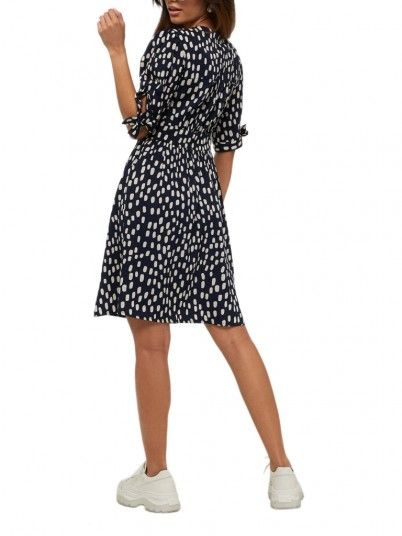 Dress Woman Daniella Navy Blue Vero Moda
