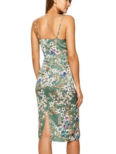 Dress Woman Sitra Green Vila