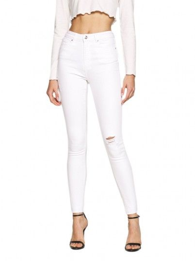 Pantalones Mujer Blanco Only
