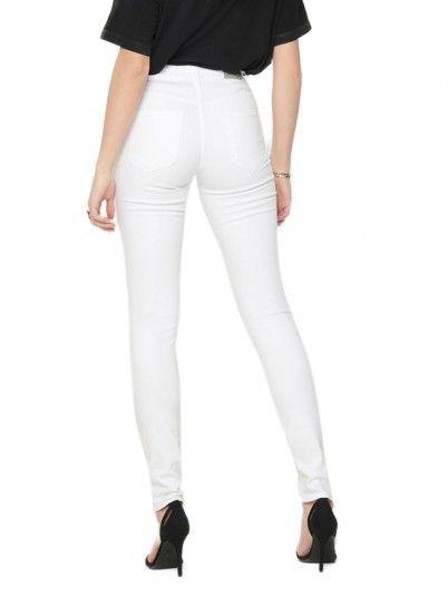 Pantaloni Donna Bianco Only