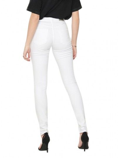 Pantalones Mujer Blanco Only