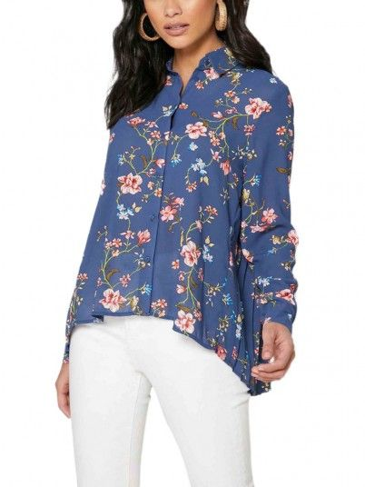 Camisa Mujer Claire Azul Only