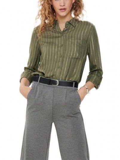 Camisa Mujer Verde Only