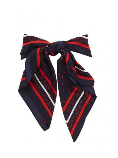 Scarf Woman Navy Blue Only