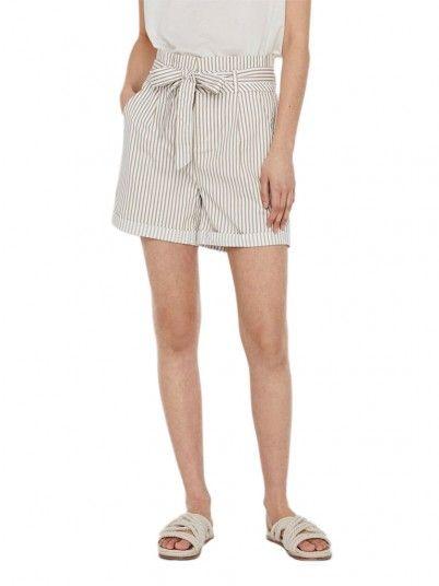 Shorts Woman Cream Vero Moda