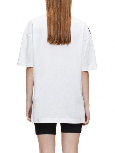 T-Shirt Woman Large White Calvin Klein