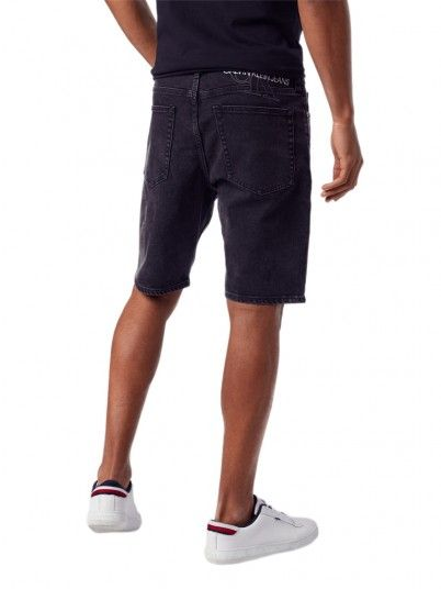 Shorts Man Slim Black Calvin Klein