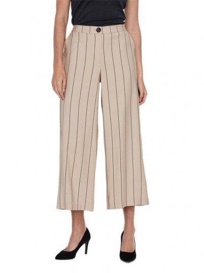 Pants Woman Klara Beige Vero Moda
