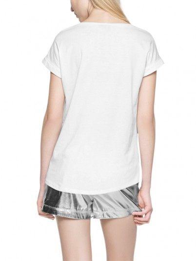 T-Shirt Woman Dreamers White Vila