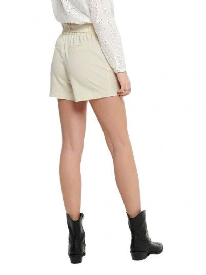 Shorts Woman Nicole Beige Only