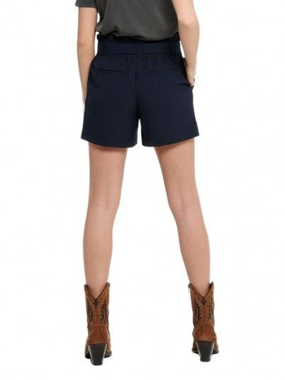 Shorts Woman Nicole Navy Blue Only