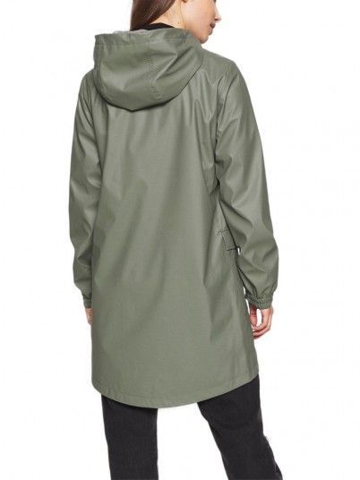 Cappotto Donna Emma Verde Only