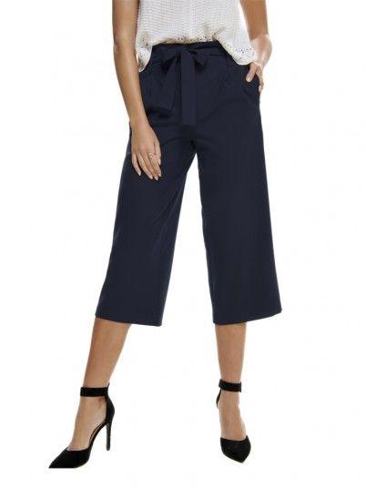 Pantaloni Donna Blu Scuro Only