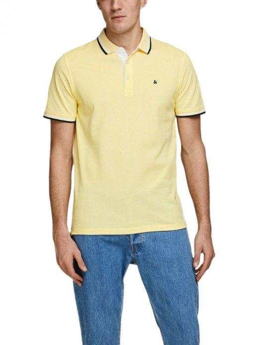 Polo Shirt Man Yellow Jack & Jones