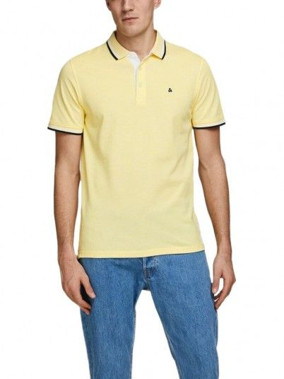 Polo Homme Jaune Jack & Jones