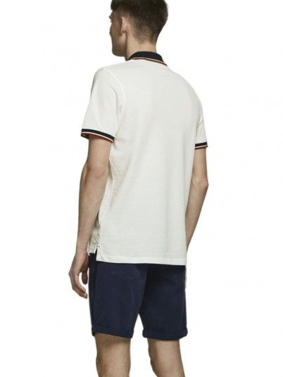 Polo Shirt Man White Jack & Jones