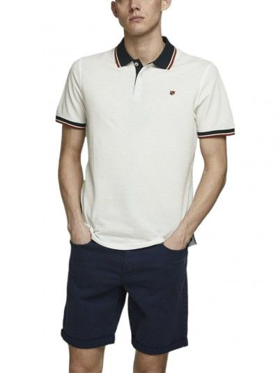 Polo Homme Blanc Jack & Jones