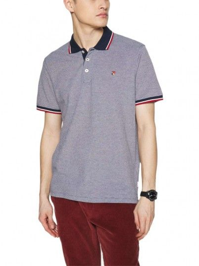 Polo Homme Bleu Marine Jack & Jones