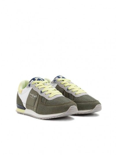 Sneakers Boy Green Pepe Jeans London