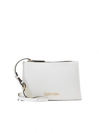 Handbag Woman Sided White Calvin Klein