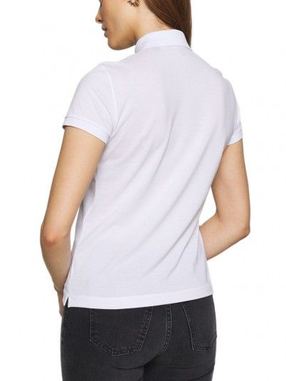 Polo Shirt Woman White Armani Exchange