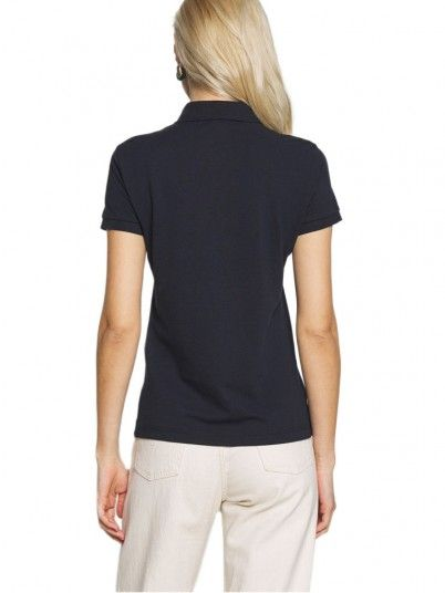 Polo Shirt Woman Dark Blue Armani Exchange