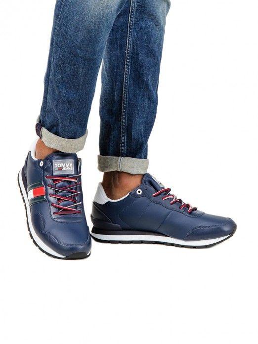 Sapatilha Homem Leather Tommy Jeans