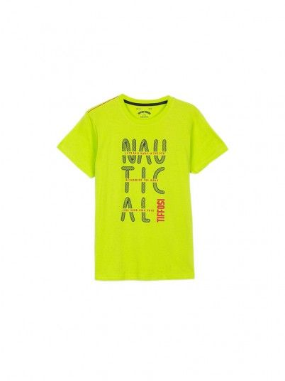 T-Shirt Boy Green Tiffosi Kids