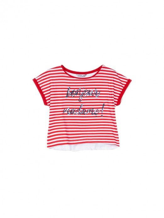 T-Shirt Girl Red Tiffosi Kids