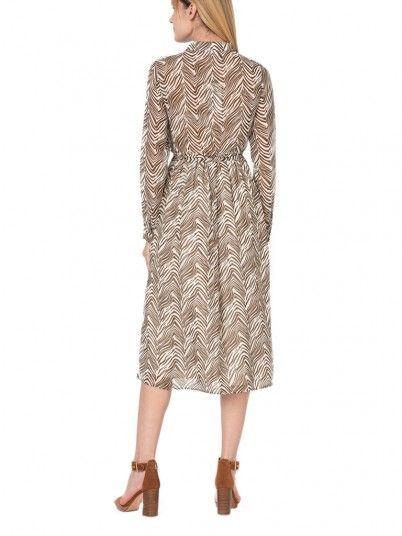 Dress Woman Koal Brown Vila