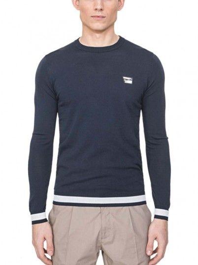 Sweatshirt Man Antony Navy Blue Antony Morato