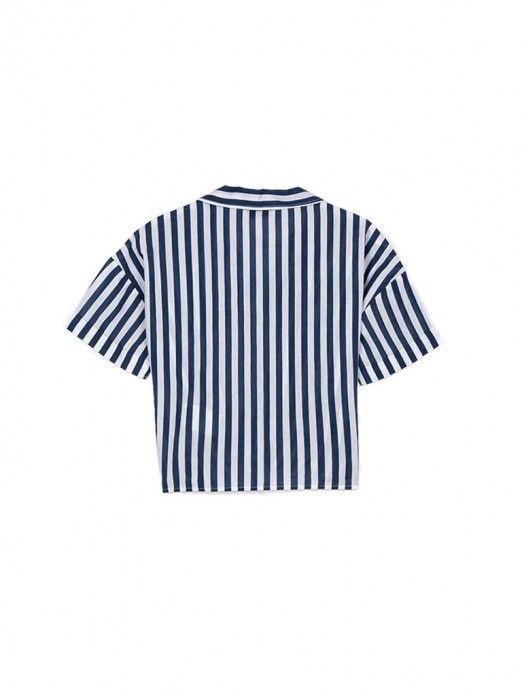 Camisa Niña Raya Azul Tiffosi Kids