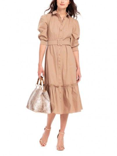 Vestido Mujer Camello Fracomina