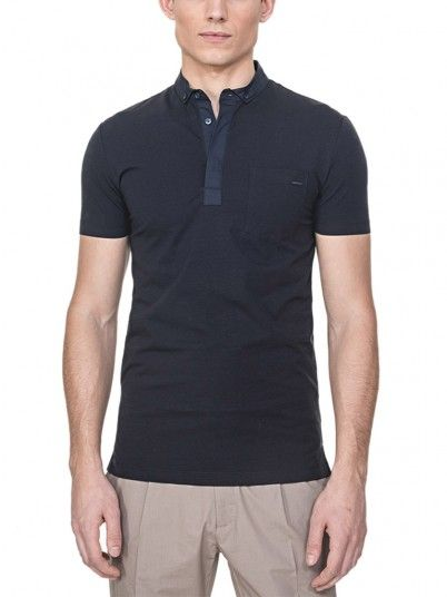 Polo Shirt Man Dark Blue Antony Morato