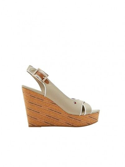 Sandals Woman Beige Tommy Jeans