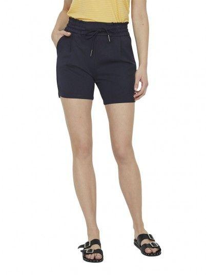 Shorts Woman Navy Blue Vero Moda