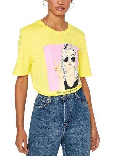Camiseta Mujer Amarillo Only