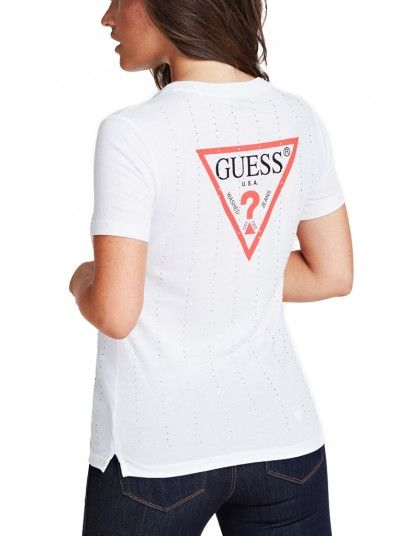 T-Shirt Woman White Guess