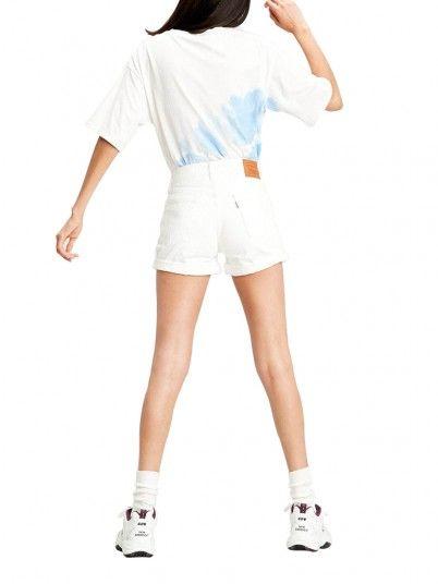 Shorts Woman White Levis